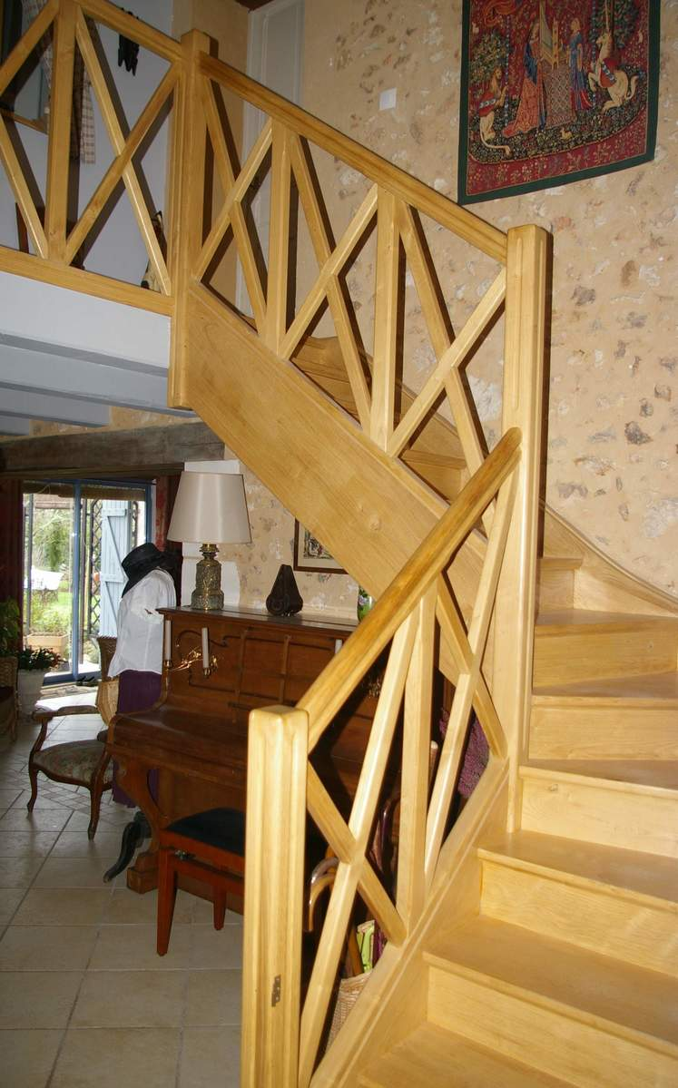 Escalier quart-tournant